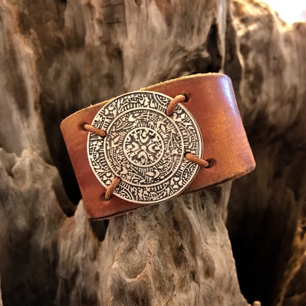 Eternal Sun Leather Cuff