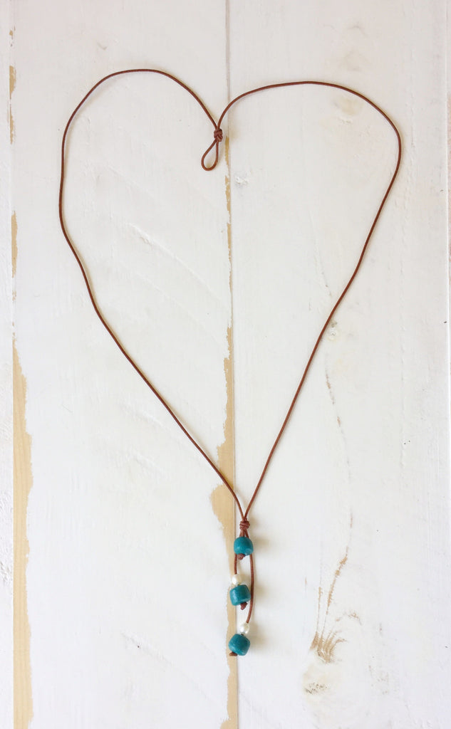 Safari Necklace in Teal | Allison Craft Designs