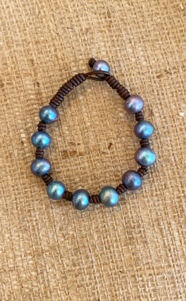 Waves of Blue Bracelet | Allison Craft Designs