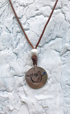 Pearl Key West and Grayton Pearl Co. Mermaid Necklace | Allison Craft Designs Pearl and Leather
