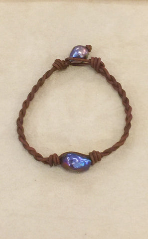 Single Blue Wave Bracelet 8.5