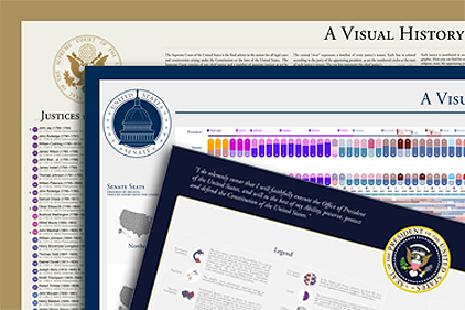 Visual Histories of the U.S. Presidency, Senate, and Supreme Court - Bundle