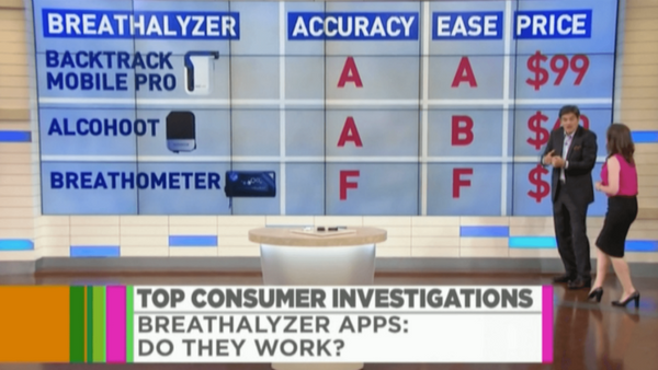 Dr. Oz Investigates Smartphone Breathalyzer Accuracy, Rates BACtrack Mobile #1