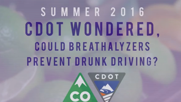 Colorado Department of Transportation (CDOT) Study Finds Personal Breathalyzers Have the Potential to Decrease Drunk Driving