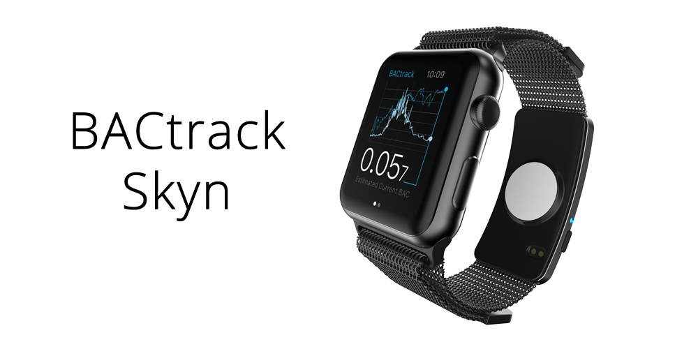 BACtrack Skyn with Apple Watch band