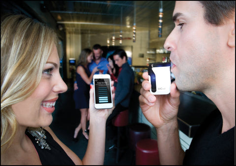 BACtrack Mobile Breathalyzer in Use