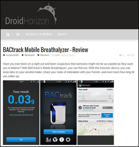 BACtrack Mobile on Droid Horizon