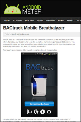 BACtrack Breathalyzers in Android Meter