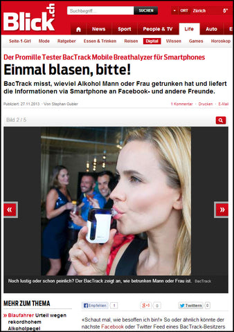 BACtrack Mobile in Blick