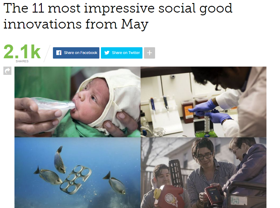 Mashable.com - 11 Most Impressive Social Good Innovations