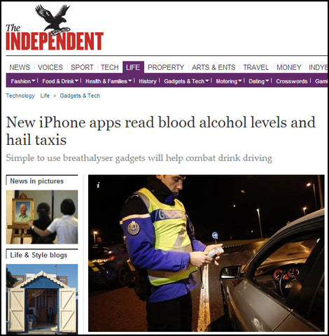 BACtrack Mobile in he Independent