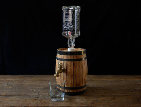 Handmade Wooden Whiskey Dispenser