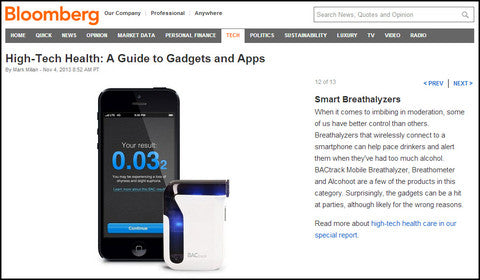 Bloomberg features BACtrack Mobile