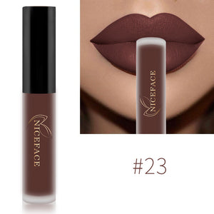 NICEFACE Lip Gloss 26 Colors Nude Matte Liquid Lipstick Mate Waterproof Long Lasting Moisturizing Lipgloss Lip Makeup Cosmetics - Gurdeep Singh Cheema