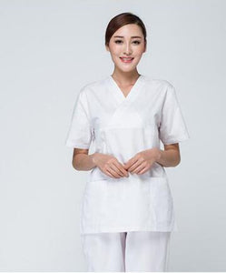 Doctors and nurses wear surgical clothing brush hand clothing European and American fashion split suit waist slimming - Gurdeep Singh Cheema's Online Store India & abroad