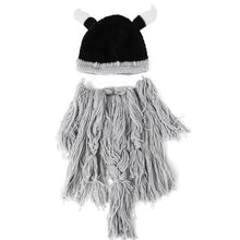 Load image into Gallery viewer, Funny Cosplay Men Knitted Viking Beard Horn Hat Ski Mask - Gurdeep Singh Cheema's Online Store India & abroad