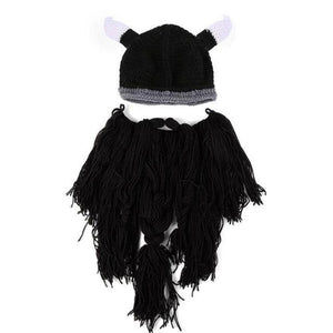 Funny Cosplay Men Knitted Viking Beard Horn Hat Ski Mask - Gurdeep Singh Cheema's Online Store India & abroad