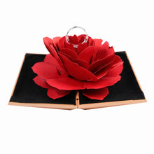 Load image into Gallery viewer, 3D Pop Up Red Rose Flower Ring Box Wedding Engagement Box Jewelry Storage Holder Case - Gurdeep Singh Cheema