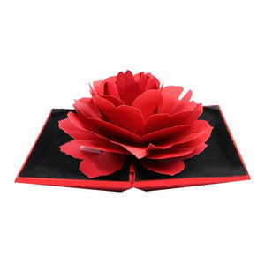 3D Pop Up Red Rose Flower Ring Box Wedding Engagement Box Jewelry Storage Holder Case - Gurdeep Singh Cheema
