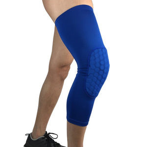 1PCS Breathable Sports Football Basketball Knee Pads Honeycomb Knee Brace Leg Sleeve Calf Compression Knee Support Protection