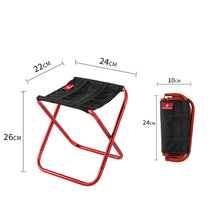 Load image into Gallery viewer, Folding Small Stool Bench Stool Portable Outdoor Mare Ultra Light Subway Train Travel Picnic Camping Fishing Chair Foldable