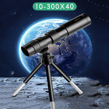 Load image into Gallery viewer, 4k 10-300x40mm Super Telephoto Zoom Monocular Telescope With Tripod & Clip Mobile Phone Accessories