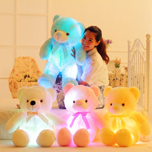 Load image into Gallery viewer, 50cm Creative Light Up LED Teddy Bear Stuffed Animals Plush Toy Colorful Glowing   Christmas Gift for Kids Pillow