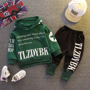 2020 Autumn Baby Clothes Children Boys Girls sport letters Hoodies Pants 2Pcs/sets Toddler Active Clothing Infant Kids Tracksuit