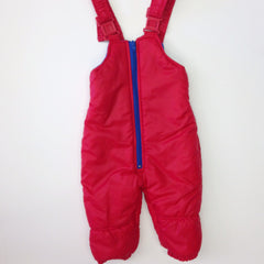 Red Snowsuit Overall Bib