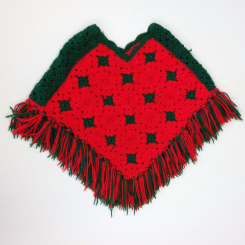 Homemade Christmas Colors Poncho