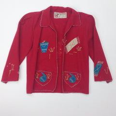 Mexican Embroidered Wool Jacket