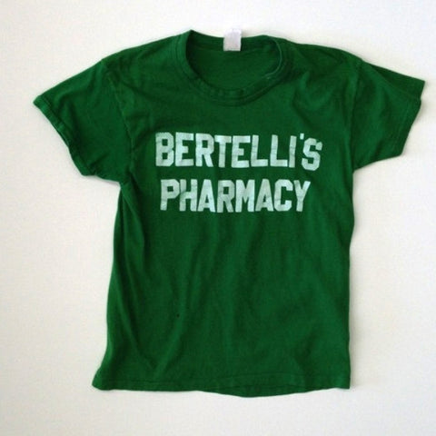 Bertelli's Pharmacy Green Baseball Tshirt