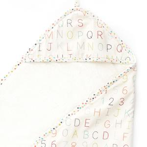 Bath Time . cozy hooded bath towel . alphabet