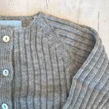 Load image into Gallery viewer, Ready to Go . ribbed knit set . baby alpaca yarn . light grey