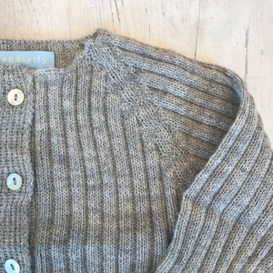 Ready to Go . ribbed knit set . baby alpaca yarn . light grey