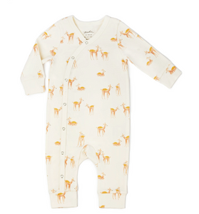 little deer romper . 100% organic cotton . 3mos . 6mos . 12mos