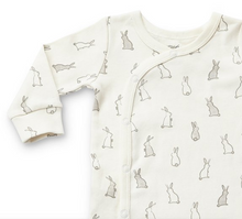 Load image into Gallery viewer, bunny hop romper . 100% organic cotton . 3mos . 6mos . 12mos