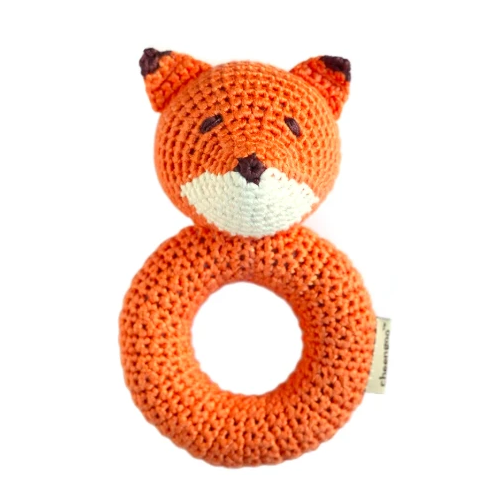 Foxy - hand crocheted rattle