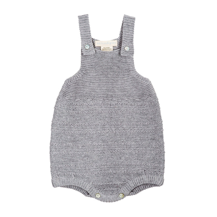 Bubble Overall . organic cotton knit overall . soft grey