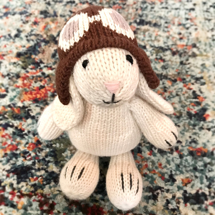 Aviator Bunny - hand-knit and ethically made