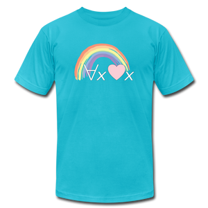 Love Everyone: Philosophy T-Shirt - turquoise