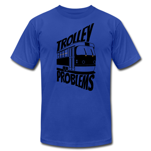 Trolley Problems: Ethics T-Shirt - royal blue
