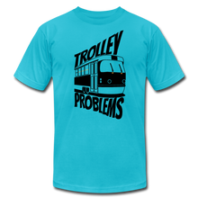 Load image into Gallery viewer, Trolley Problems: Ethics T-Shirt - turquoise