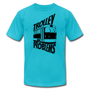 Trolley Problems: Ethics T-Shirt - turquoise