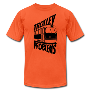 Trolley Problems: Ethics T-Shirt - orange