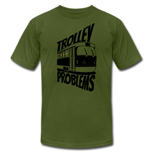 Load image into Gallery viewer, Trolley Problems: Ethics T-Shirt - olive