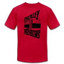 Load image into Gallery viewer, Trolley Problems: Ethics T-Shirt - red