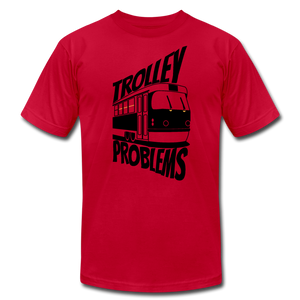 Trolley Problems: Ethics T-Shirt - red