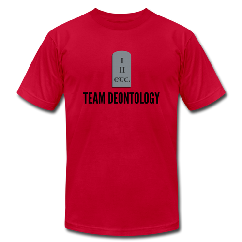 Team Deontology: Ethics T-Shirt - red