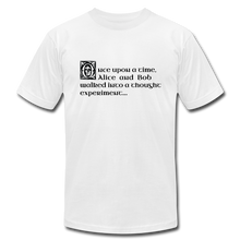 Load image into Gallery viewer, Alice and Bob: T-Shirt - white
